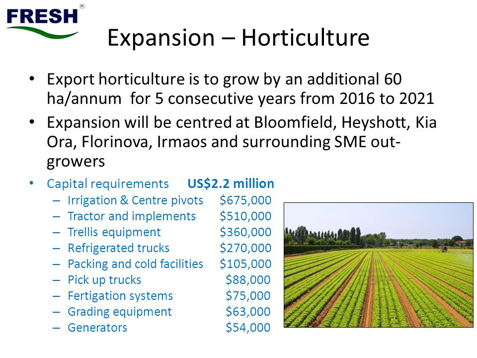 Expansion – Horticulture