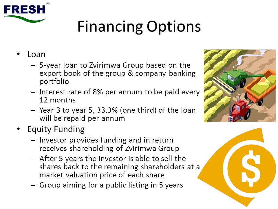 Financing Options Loan Equity Funding