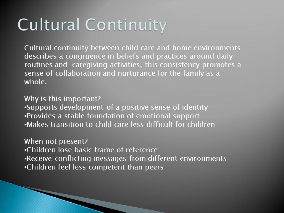 Cultural Continuity