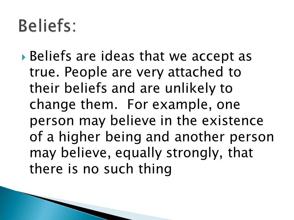 Beliefs: