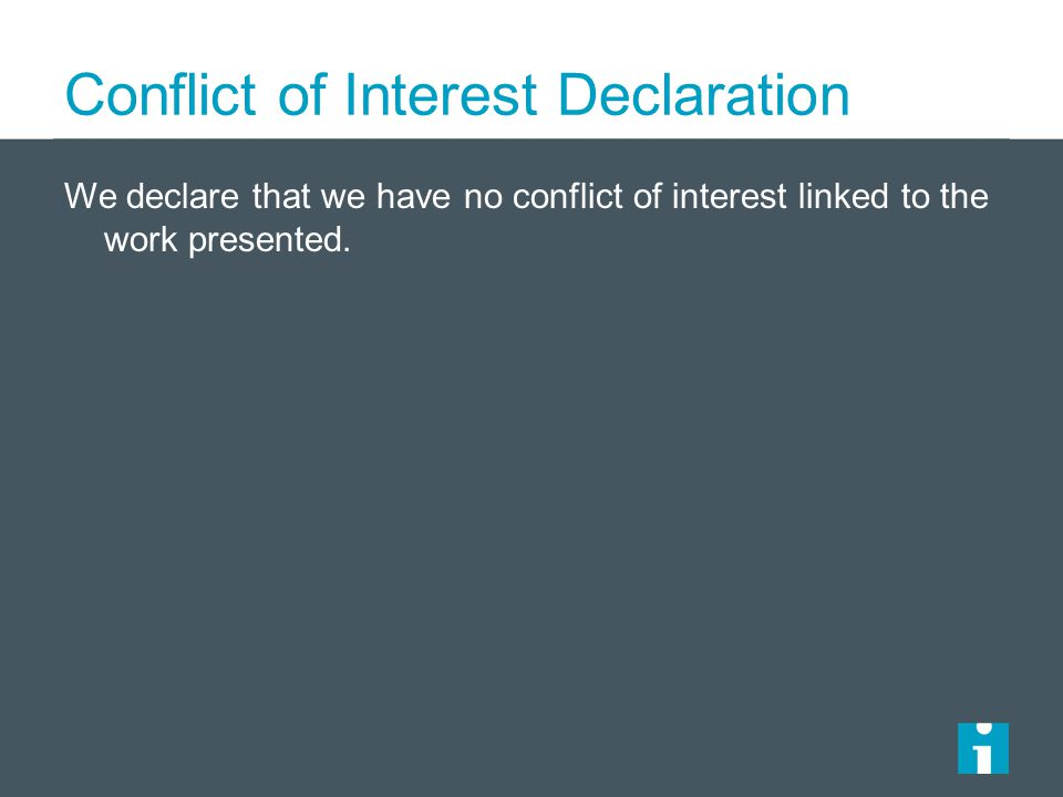 Conflict of Interest Declaration