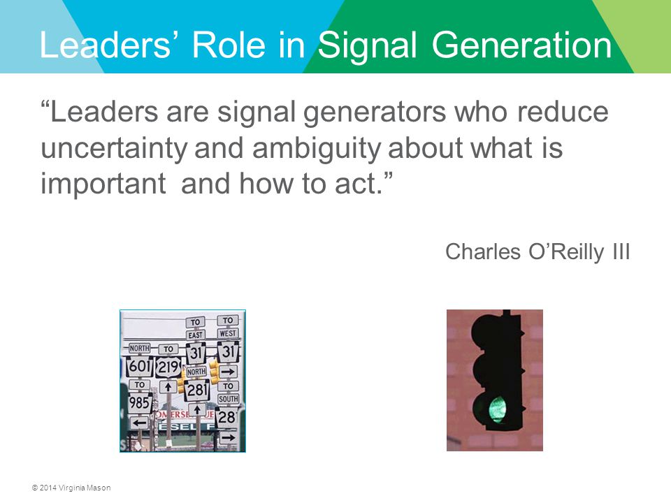 Leaders' Role in Signal Generation