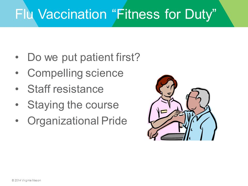 Flu Vaccination Fitness for Duty