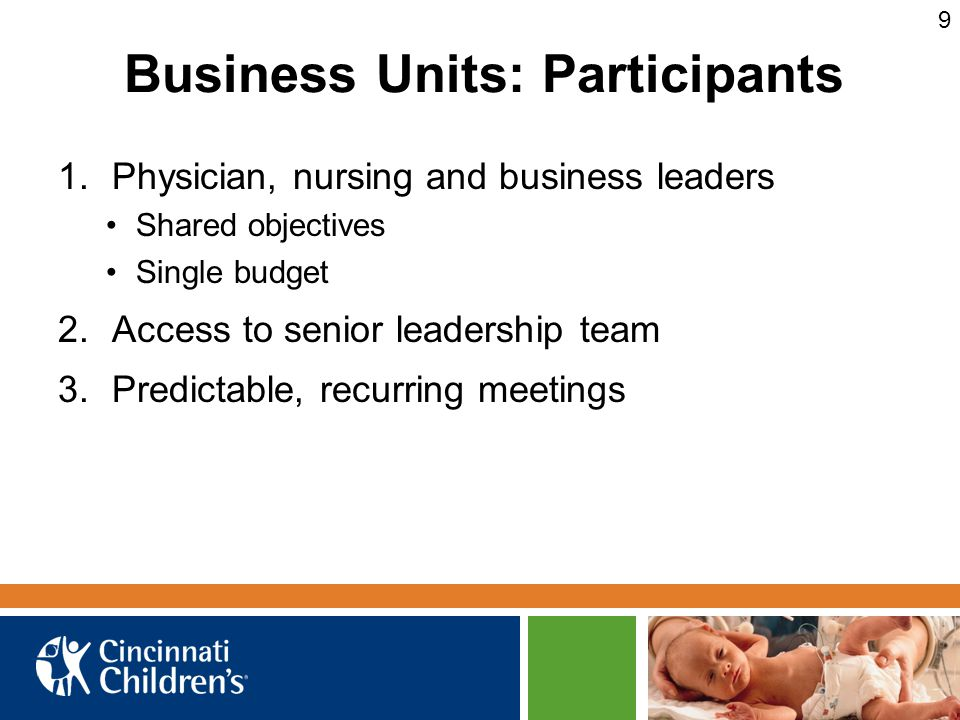 Business Units: Participants