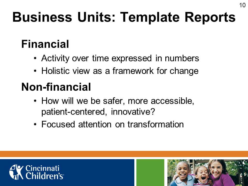 Business Units: Template Reports