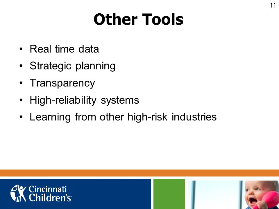 Other Tools Real time data Strategic planning Transparency