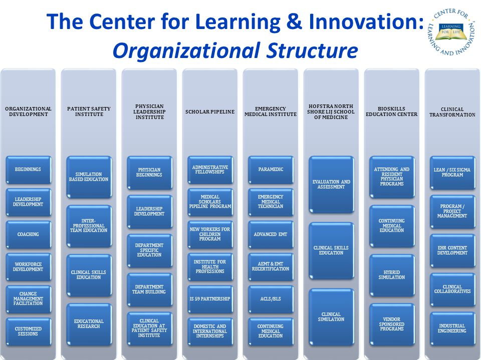 The Center for Learning & Innovation: Organizational Structure