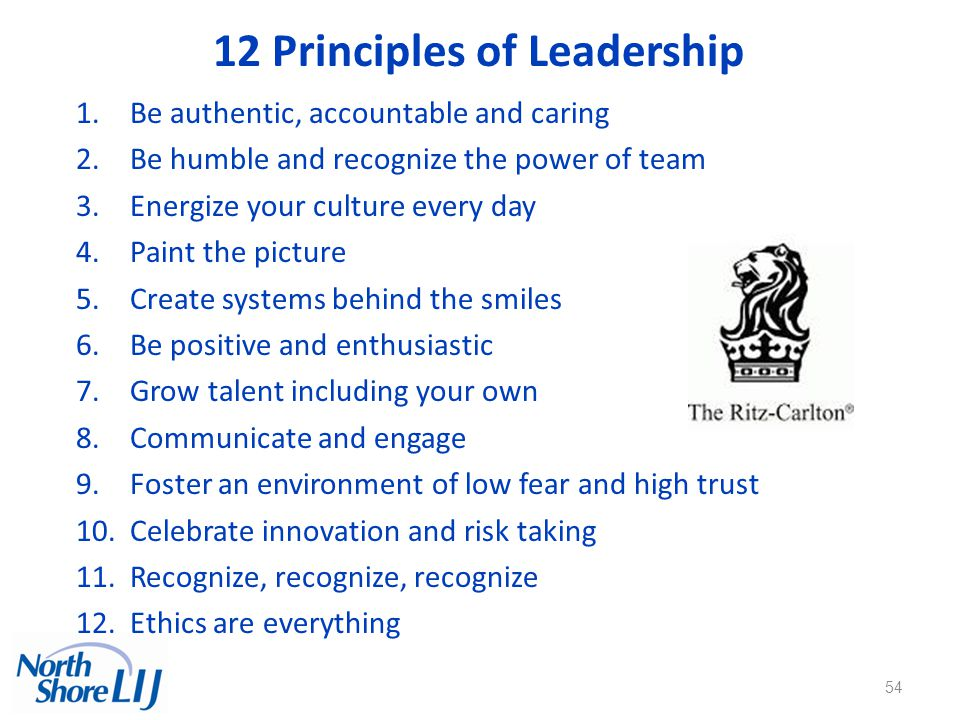 12 Principles of Leadership