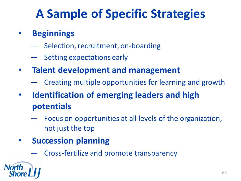 A Sample of Specific Strategies