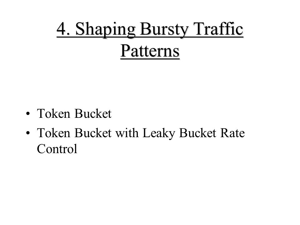 4. Shaping Bursty Traffic Patterns