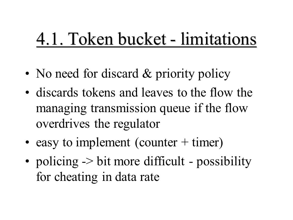 4.1. Token bucket - limitations