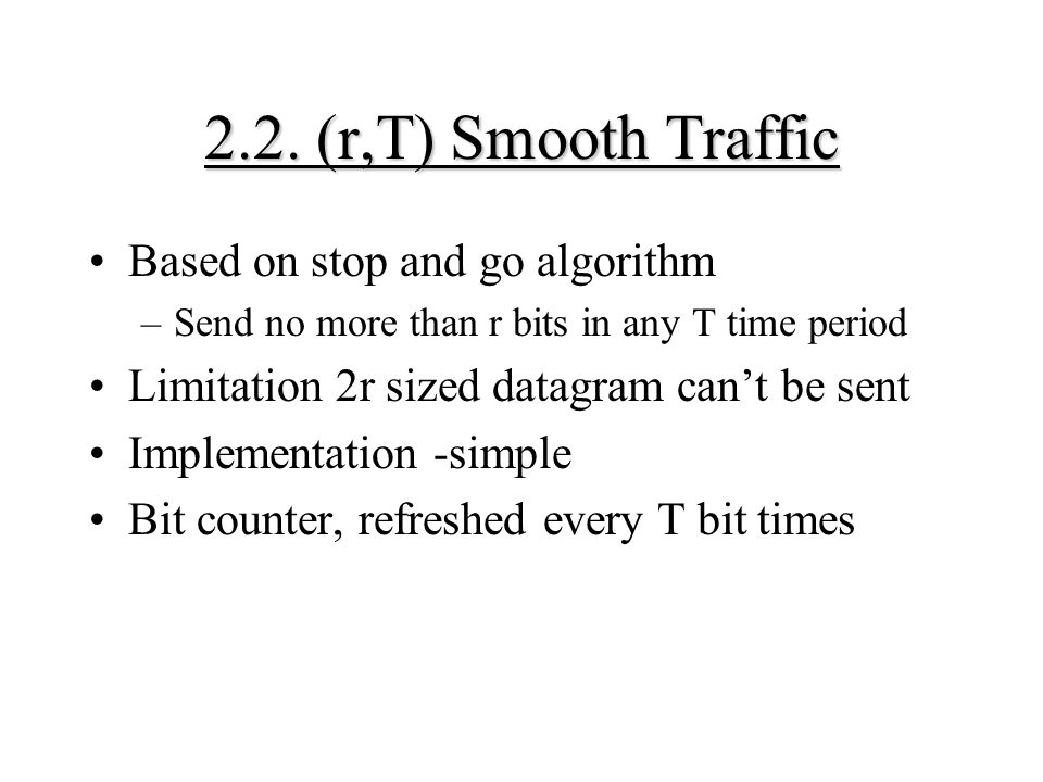 2.2. (r,T) Smooth Traffic Based on stop and go algorithm