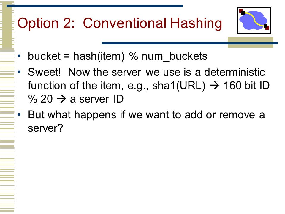 Option 2: Conventional Hashing