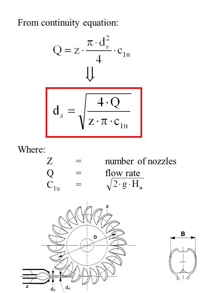 From continuity equation: