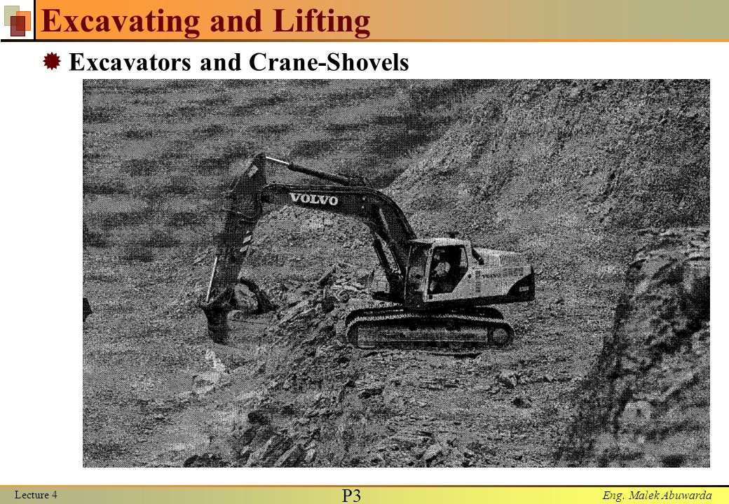 Excavating and Lifting