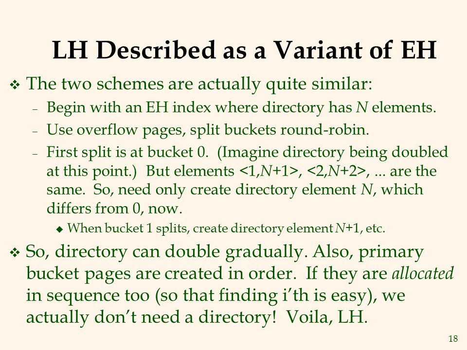LH Described as a Variant of EH