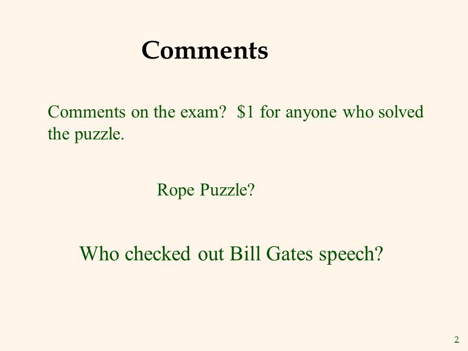 Comments Who checked out Bill Gates speech