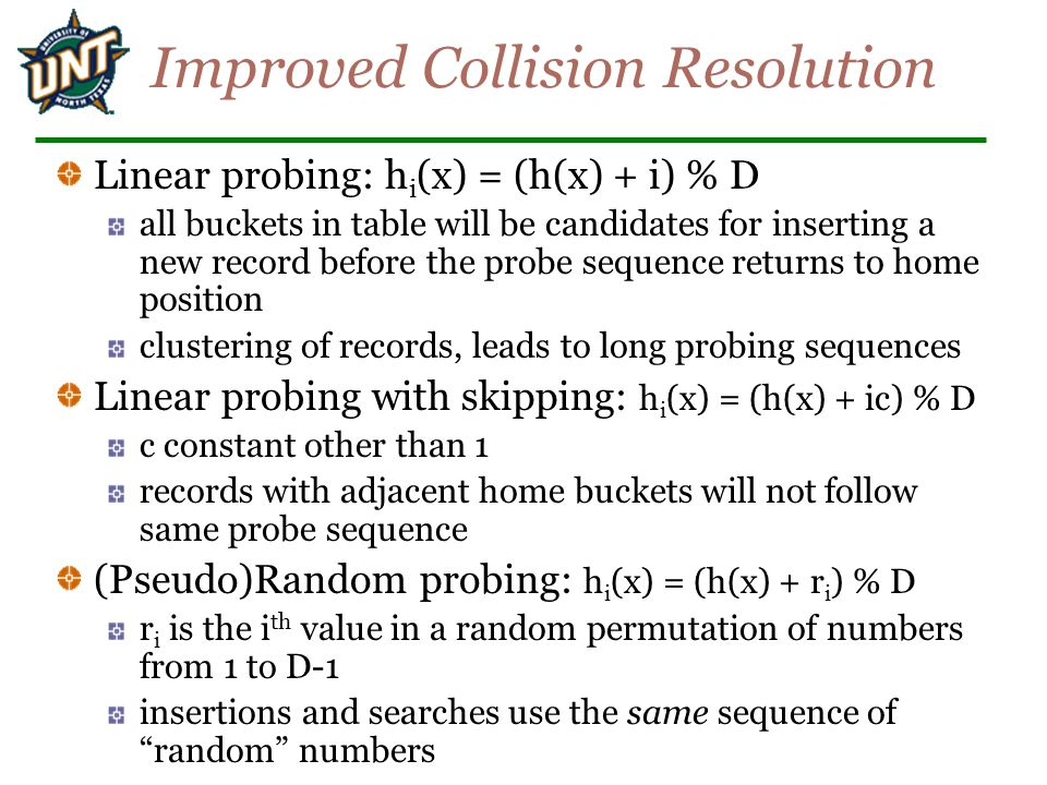 Improved Collision Resolution