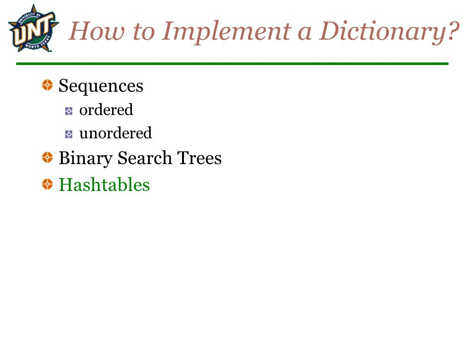 How to Implement a Dictionary