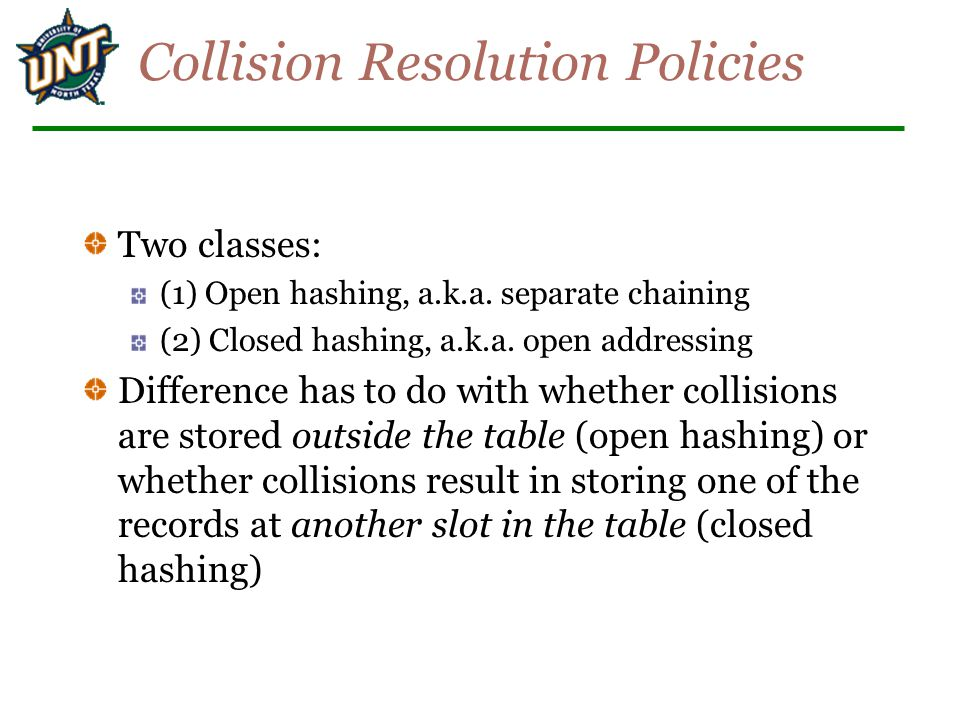 Collision Resolution Policies