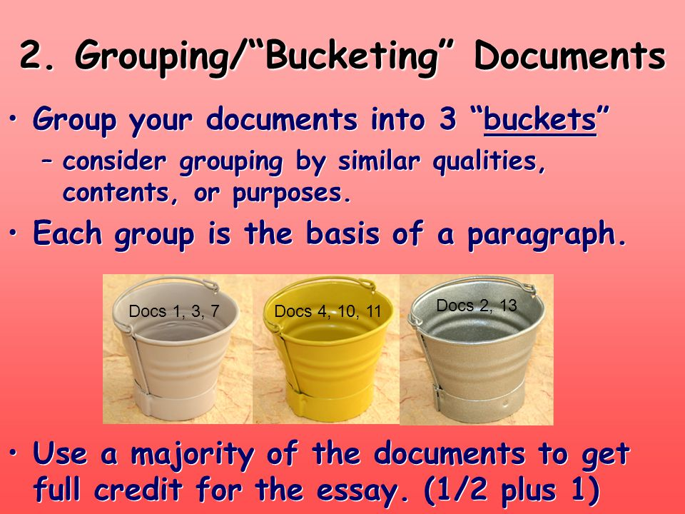 2. Grouping/ Bucketing Documents