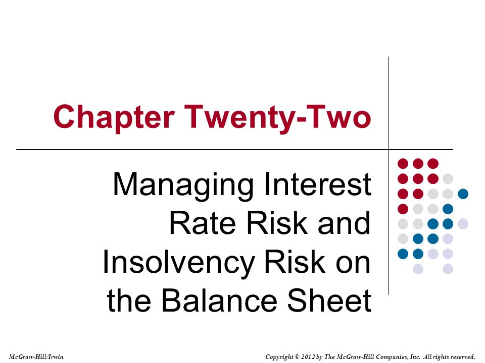 Managing Interest Rate Risk and Insolvency Risk on the Balance Sheet