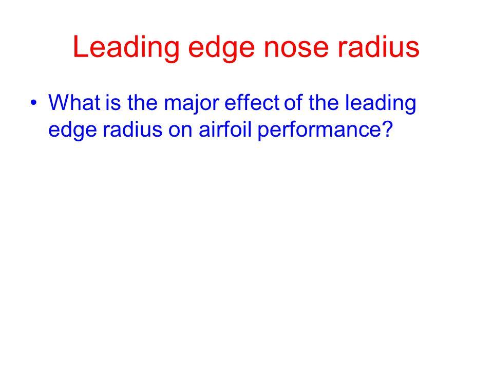 Leading edge nose radius