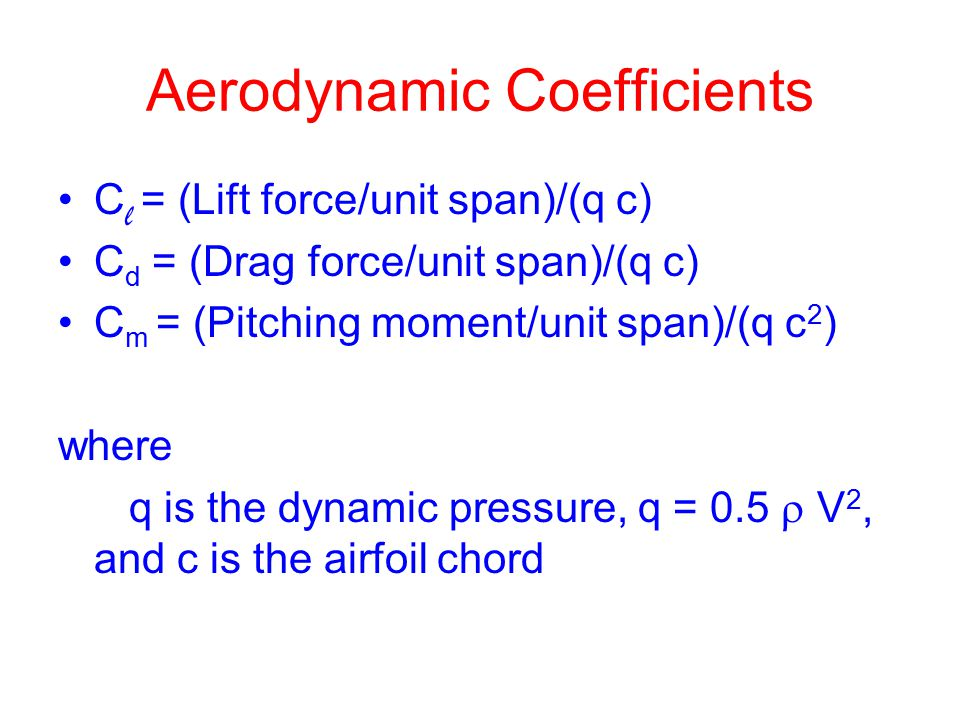 Aerodynamic Coefficients