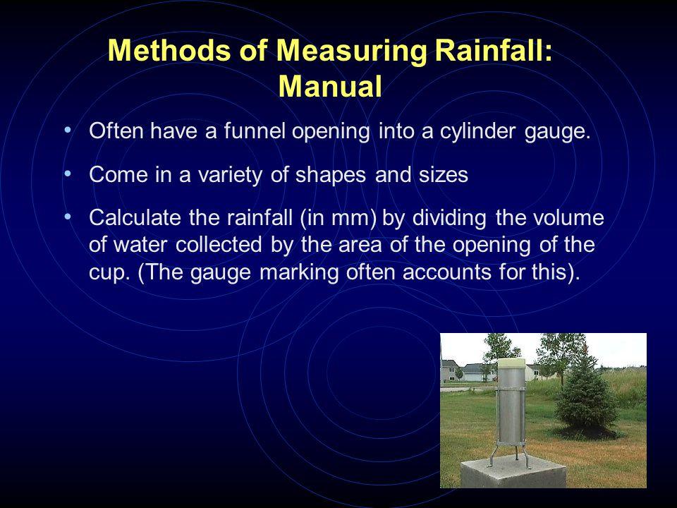 Methods of Measuring Rainfall: Manual