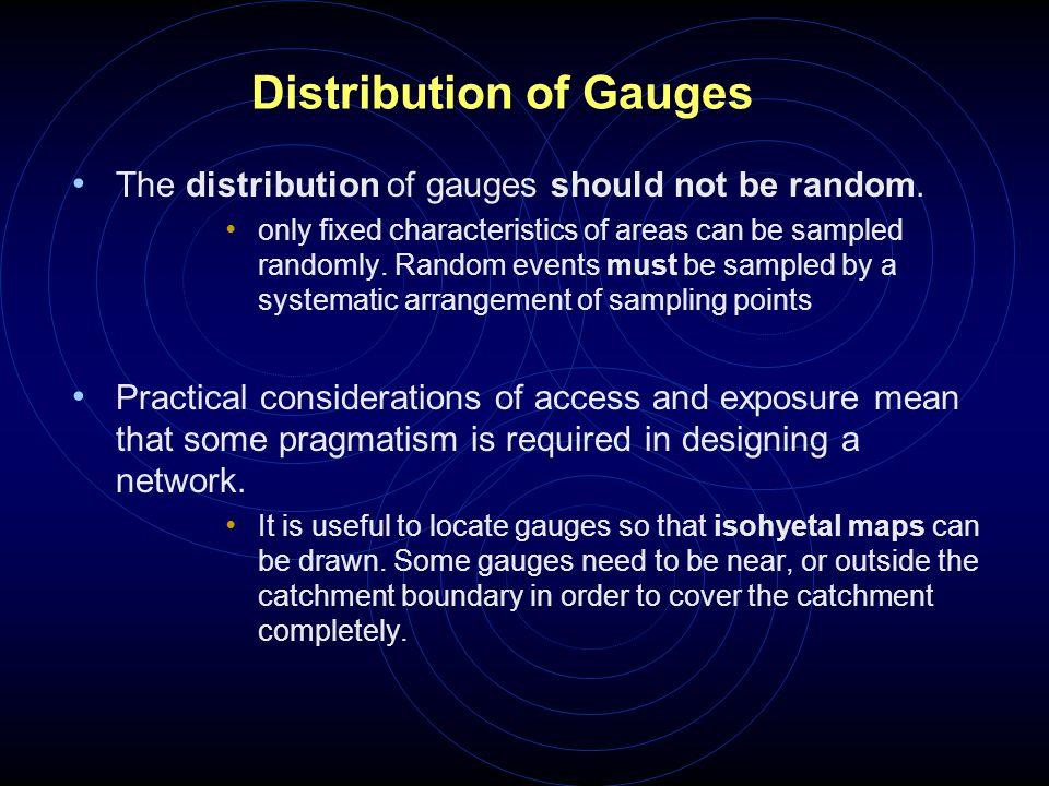 Distribution of Gauges