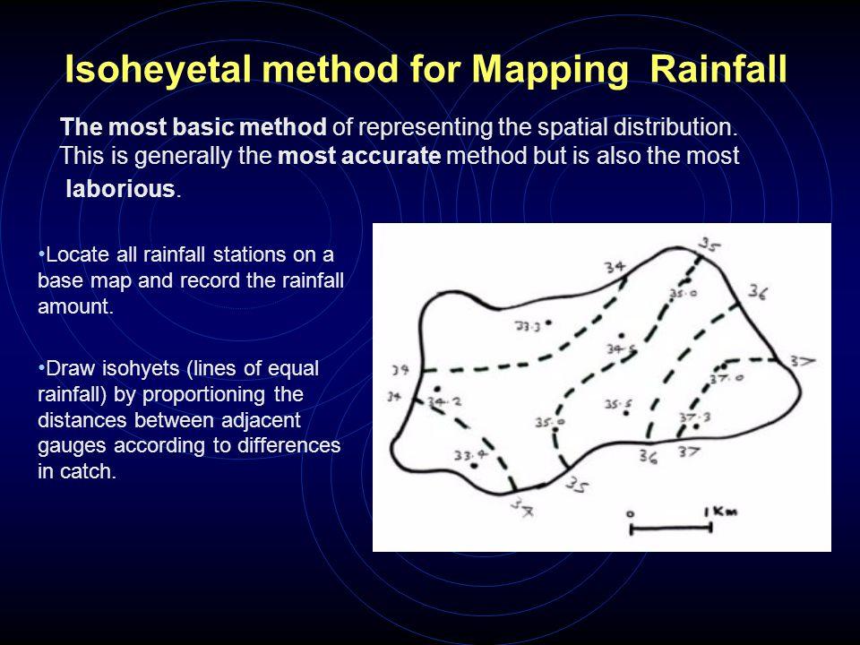 Isoheyetal method for Mapping Rainfall