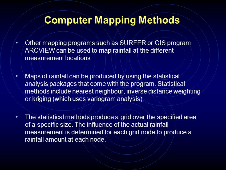 Computer Mapping Methods