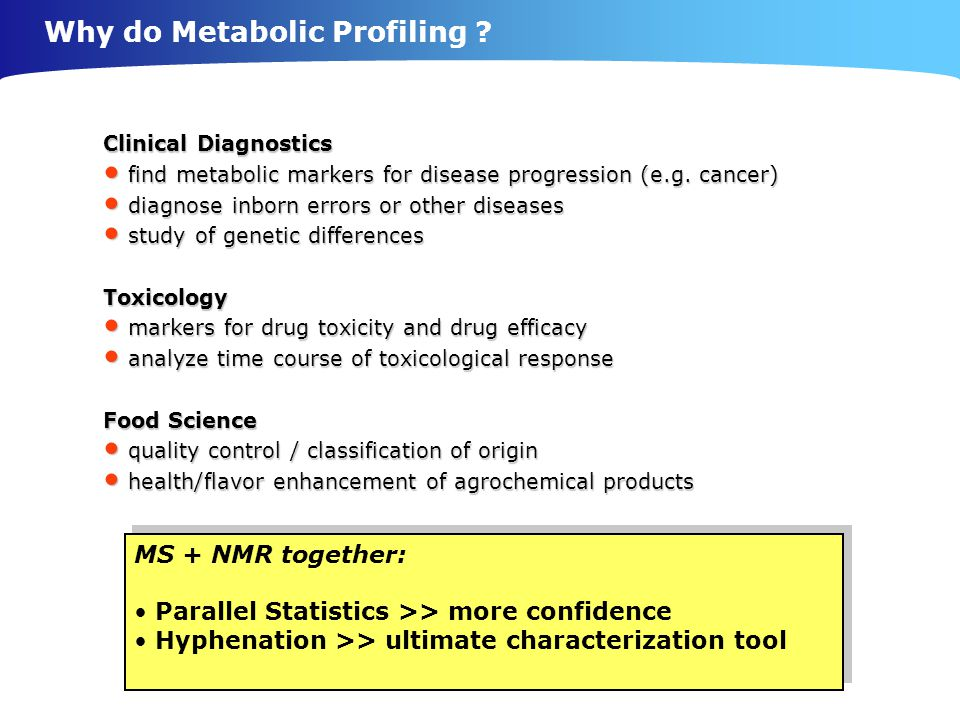 Why do Metabolic Profiling
