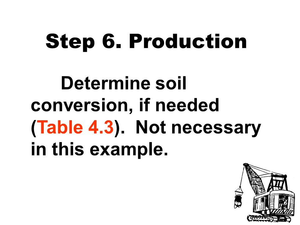 Step 6. Production Determine soil conversion, if needed (Table 4.3).