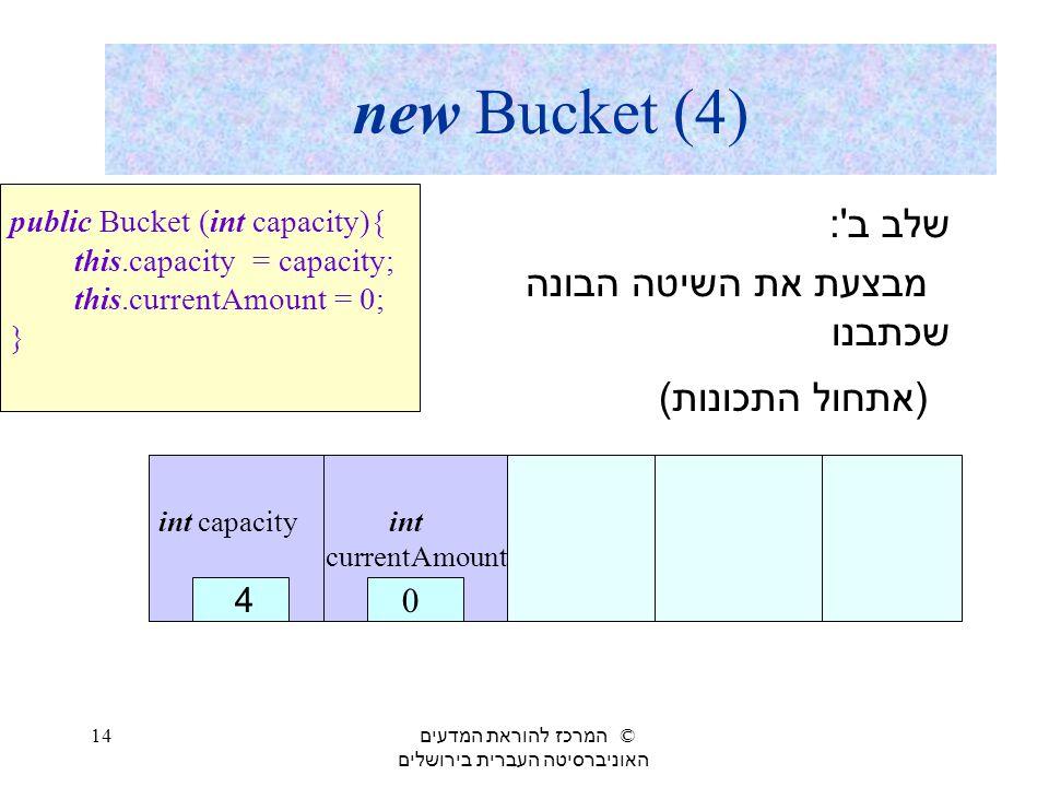 שלב ב : מבצעת את השיטה הבונה שכתבנו (אתחול התכונות)