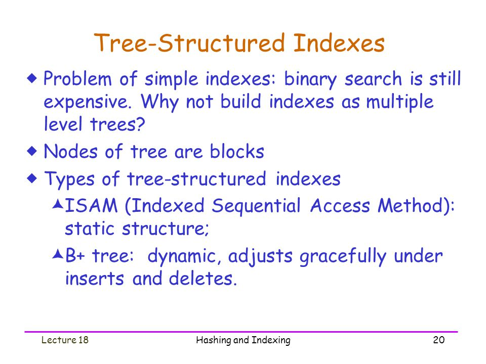 Tree-Structured Indexes