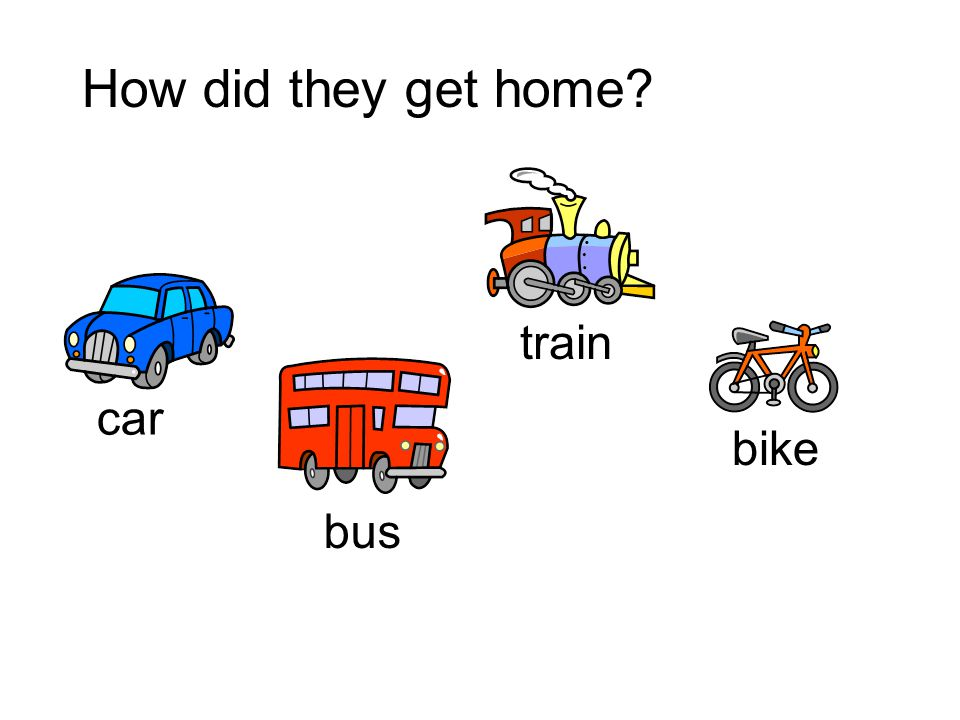 How did they get home train car bike bus