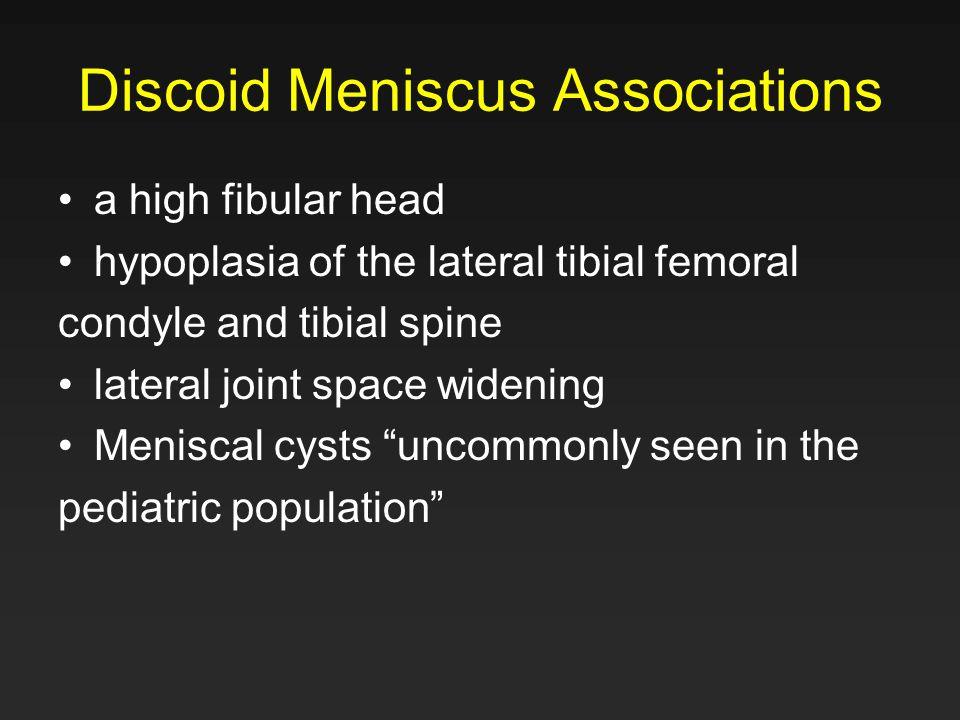 Discoid Meniscus Associations