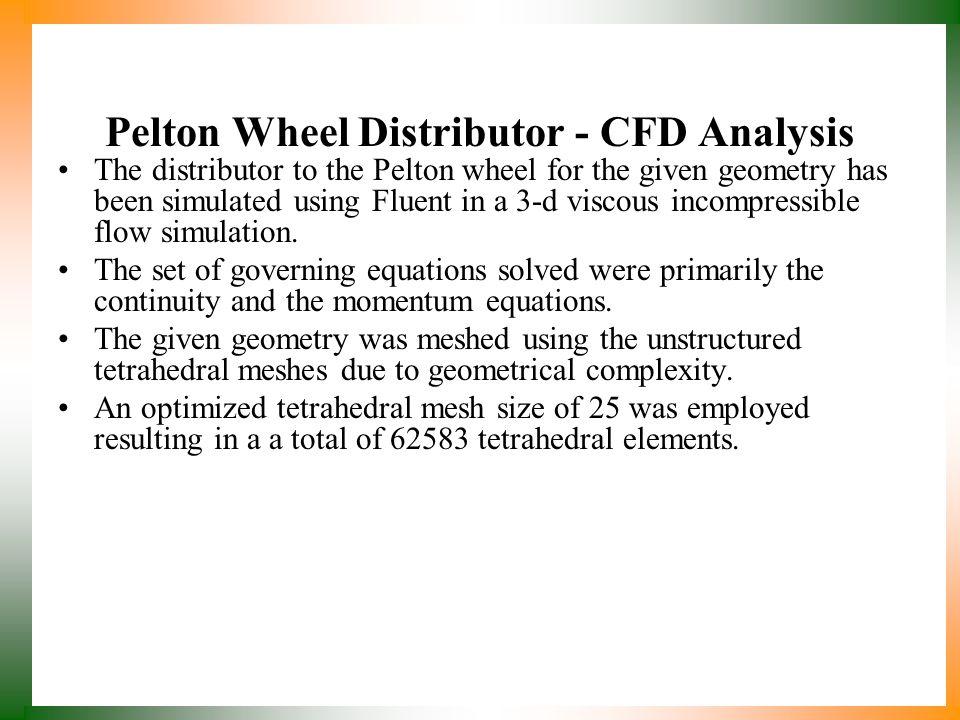 Pelton Wheel Distributor - CFD Analysis