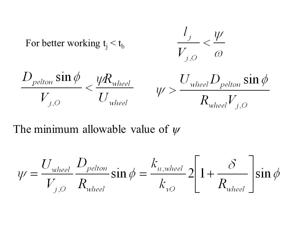 The minimum allowable value of y