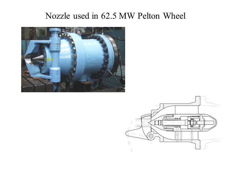 Nozzle used in 62.5 MW Pelton Wheel