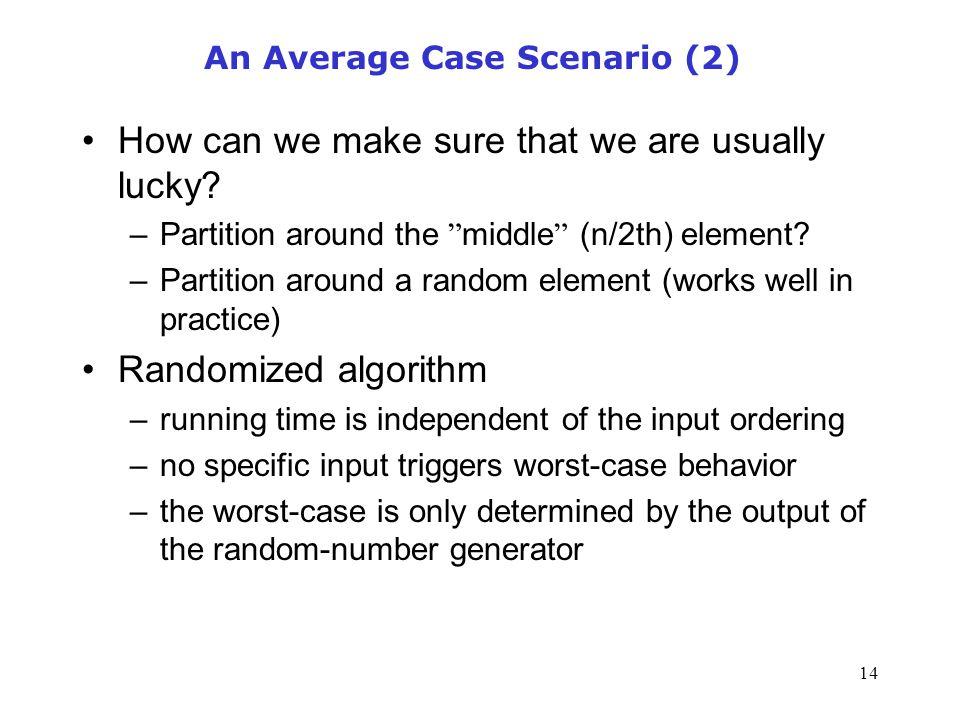An Average Case Scenario (2)