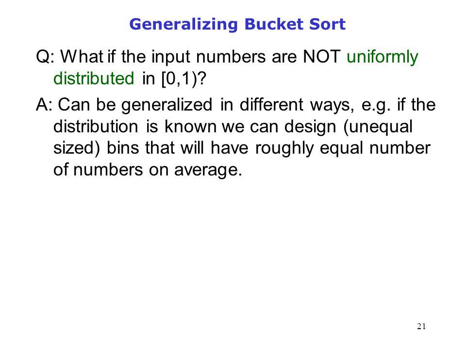 Generalizing Bucket Sort