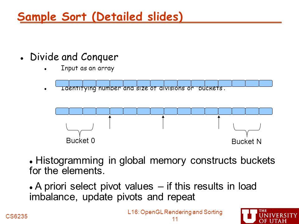 Sample Sort (Detailed slides)