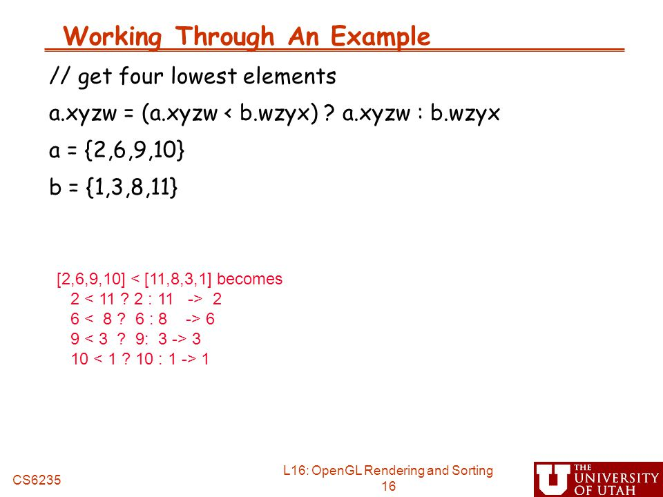 Working Through An Example