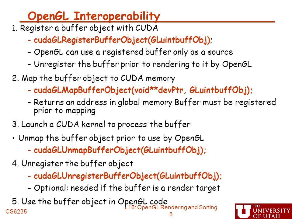 OpenGL Interoperability