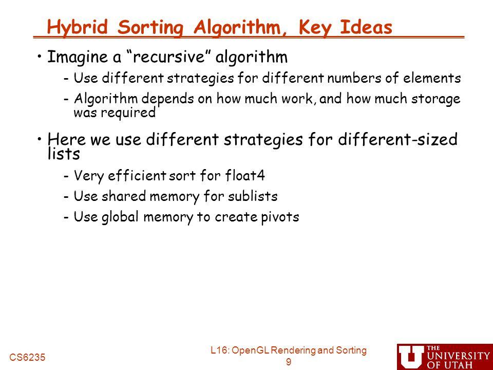Hybrid Sorting Algorithm, Key Ideas