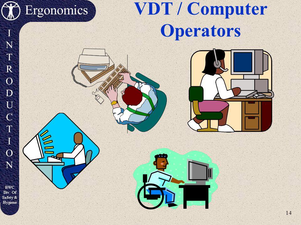 VDT / Computer Operators