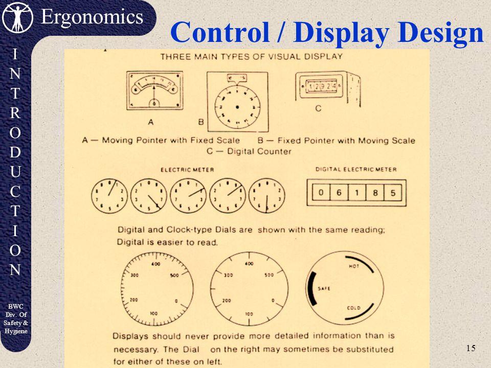 Control / Display Design