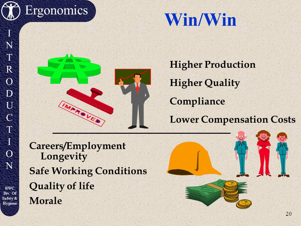 Win/Win Higher Production Higher Quality Compliance